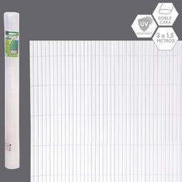 CAÑIZO DOBLE CARA PVC BLANCO EXTERIOR 3 X 1,50 CM