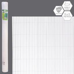 CAÑIZO DOBLE CARA PVC BLANCO EXTERIOR 3 X 2 CM