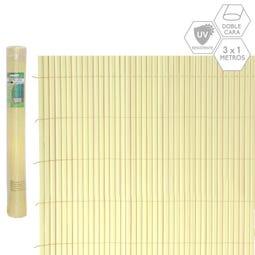 CAÑIZO DOBLE CARA PVC BEIGE EXTERIOR 3 X 1 CM