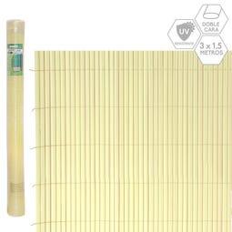 CAÑIZO DOBLE CARA PVC BEIGE EXTERIOR 3 X 1,50 CM