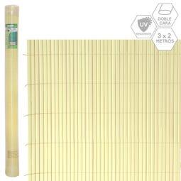 CAÑIZO DOBLE CARA PVC BEIGE EXTERIOR 3 X 2 CM