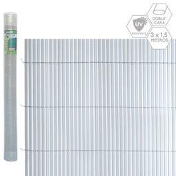CAÑIZO DOBLE CARA PVC GRIS 3 X 1,50 M