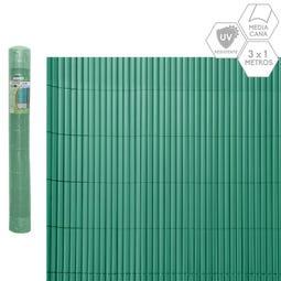 CAÑIZO MEDIA CAÑA PVC VERDE 3 X 1 M