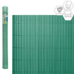 CAÑIZO MEDIA CAÑA PVC VERDE 3 X 1,50 M