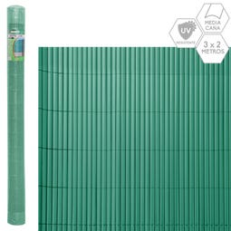CAÑIZO MEDIA CAÑA PVC VERDE 3 X 2 M